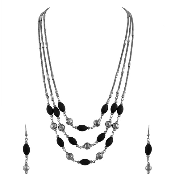 Asmitta Jewellery Alloy Jewel Set (Black) -NS217