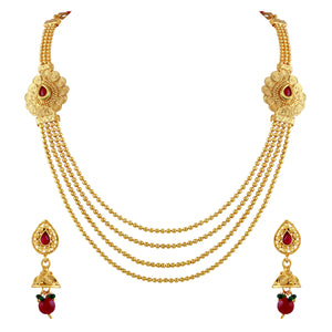 Asmitta Jewellery Zinc Jewel Set (Gold) -NS227
