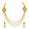 Asmitta Jewellery Zinc Jewel Set (Gold) -NS228