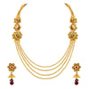 Asmitta Jewellery Zinc Jewel Set (Gold) -NS229