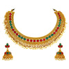 Asmitta Jewellery Copper Jewel Set (Gold) -NS238