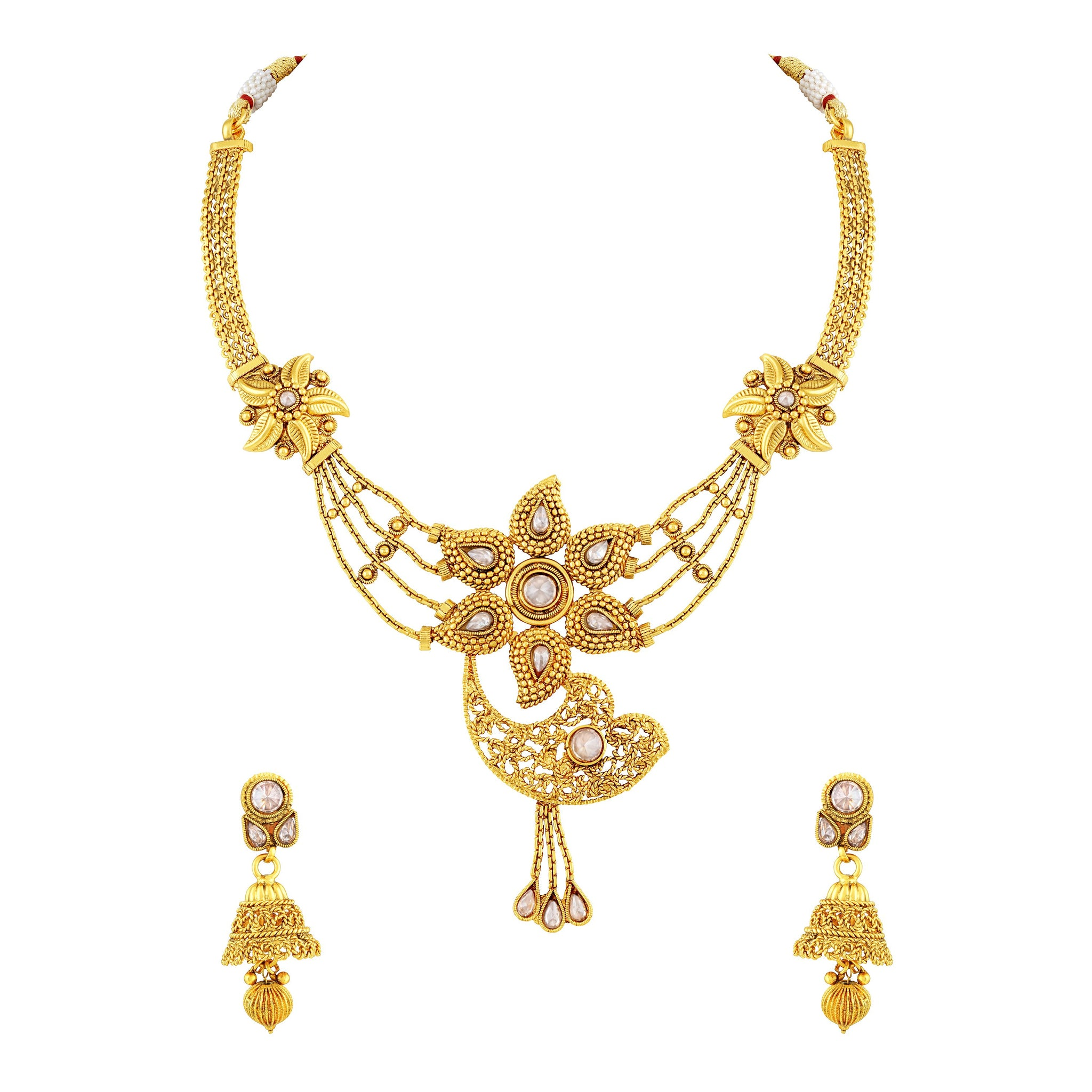 pin latest price design designs set gold necklace with