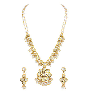 Asmitta Jewellery Zinc Jewel Set (Gold) -NS263