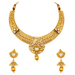 Asmitta Jewellery Zinc Jewel Set (Gold) -NS276