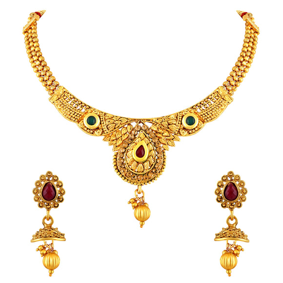 Asmitta Jewellery Zinc Jewel Set (Multicolor) -NS292