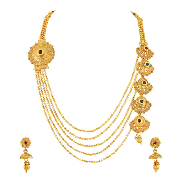Asmitta Jewellery Zinc Jewel Set (Gold) -NS297