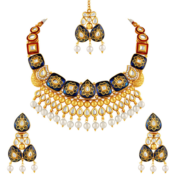 Asmitta Jewellery Zinc Jewel Set (Multicolor) -NS311
