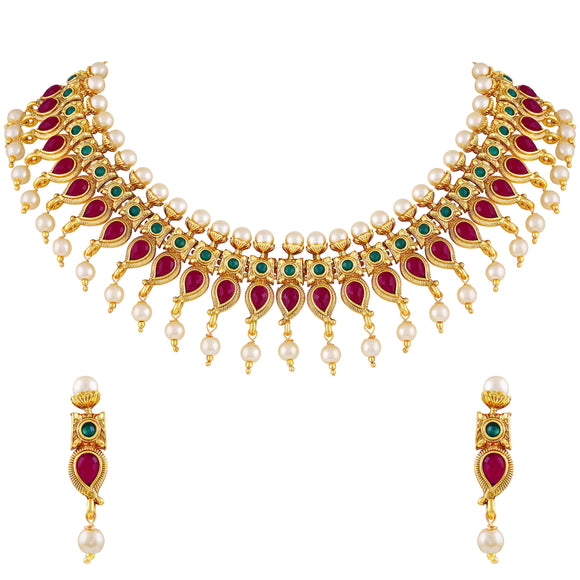 Asmitta Jewellery Zinc Jewel Set (Multicolor) -NS323