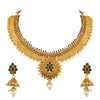 Asmitta Jewellery Copper Jewel Set (Gold) -NS329