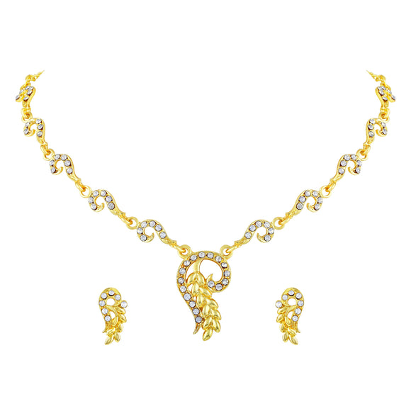 Asmitta Jewellery Zinc Jewel Set (Gold) -NS336
