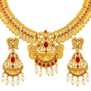 Asmitta Jewellery Zinc Jewel Set (Gold) -NS356