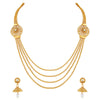 Asmitta Jewellery Gold Zinc Necklace Set - NS373