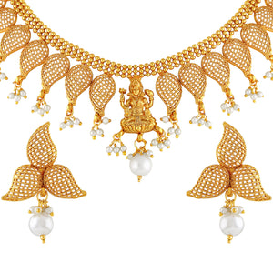 Asmitta Jewellery Brass Jewel Set (Gold) -NS386