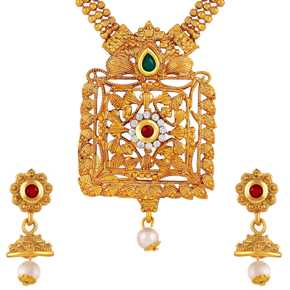 Asmitta Jewellery Zinc Jewel Set (Gold) -NS406