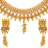 Asmitta Jewellery Copper Jewel Set (Gold) -NS411