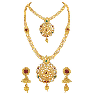 Asmitta Jewellery Zinc Jewel Set (Gold) -NS429