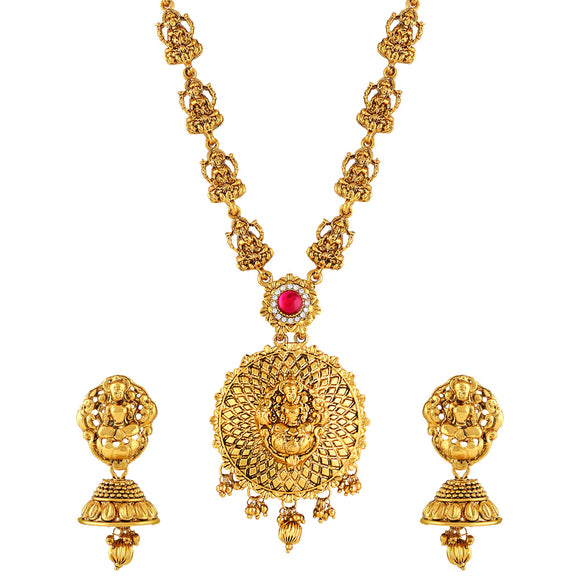 Asmitta Jewellery Zinc Jewel Set (Gold) -NS466