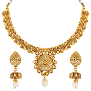 Asmitta Jewellery Copper Jewel Set (Gold) -NS519