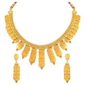 Asmitta Jewellery Copper Jewel Set (Gold) -NS524