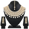 Asmitta Jewellery Zinc Jewel Set (White, Gold) -NS547