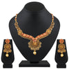 Asmitta Jewellery Zinc Jewel Set (Gold, Red) -NS557
