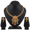 Asmitta Jewellery Zinc Jewel Set (Gold, Red) -NS565