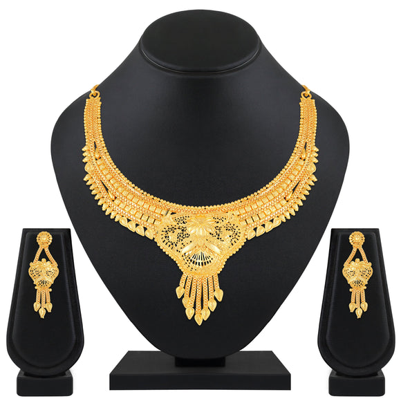 Asmitta Jewellery Brass Jewel Set (Gold) -NS583