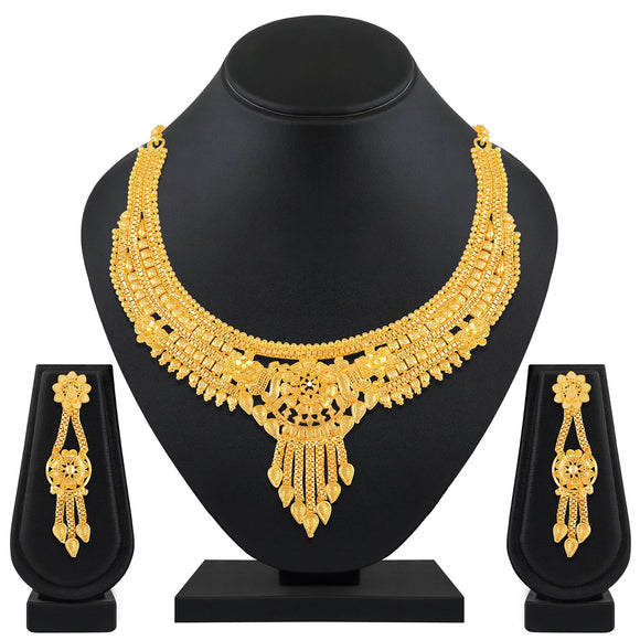 Asmitta Jewellery Brass Jewel Set (Gold) -NS586