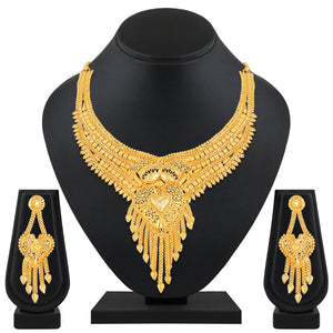 Asmitta Jewellery Brass Jewel Set (Gold) -NS588
