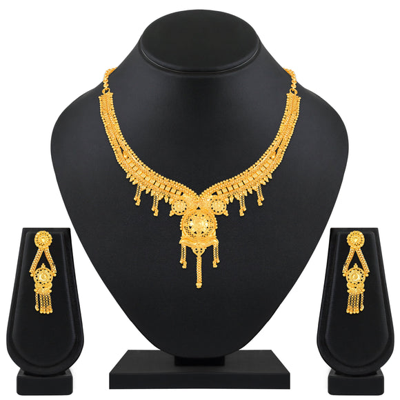 Asmitta Jewellery Brass Jewel Set (Gold) -NS590