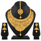 Asmitta Jewellery Zinc Jewel Set (Gold) -NS630