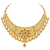 Asmitta Jewellery Zinc Jewel Set (Gold) -NS631