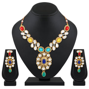 Asmitta Jewellery Zinc Jewel Set (Multicolor) -NS635