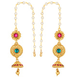 Asmitta Jewellery Zinc Jewel Set (Green, Pink) -NS636