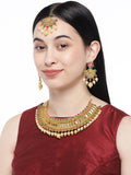 Asmitta Jewellery Brass Jewel Set (Multicolor) -NS648