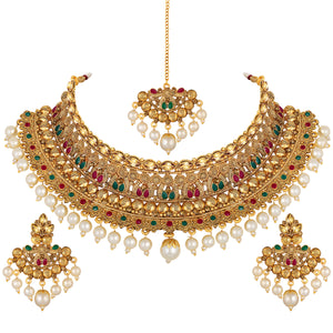 Asmitta Jewellery Brass Jewel Set (Multicolor) -NS649