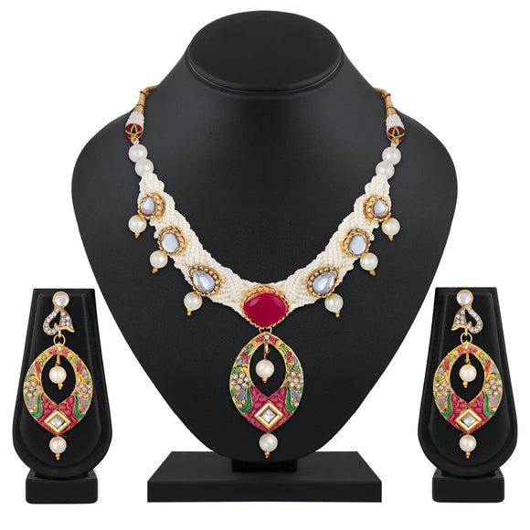 Asmitta Jewellery Brass Jewel Set (Multicolor) -NS652