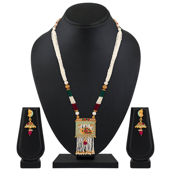 Asmitta Jewellery Brass Jewel Set (Multicolor) -NS662