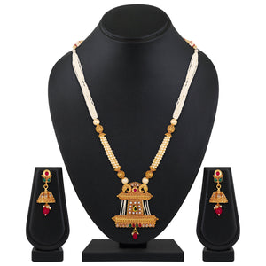 Asmitta Jewellery Brass Jewel Set (Multicolor) -NS663