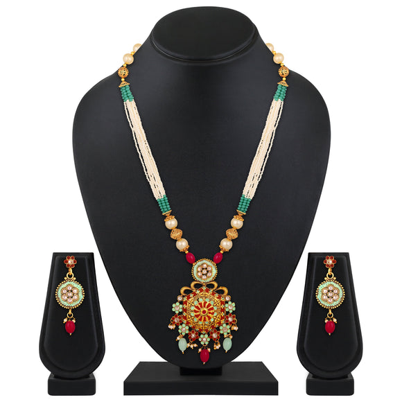 Asmitta Jewellery Brass Jewel Set (Multicolor) -NS665
