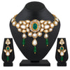 Asmitta Jewellery Green Brass Necklace Set - NS671