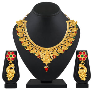 Asmitta Jewellery Brass Jewel Set (Multicolor) -NS675