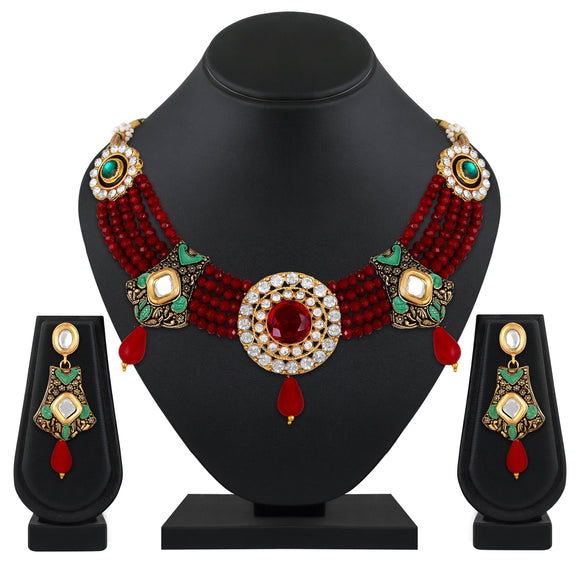 Asmitta Jewellery Brass Jewel Set (Multicolor) -NS676