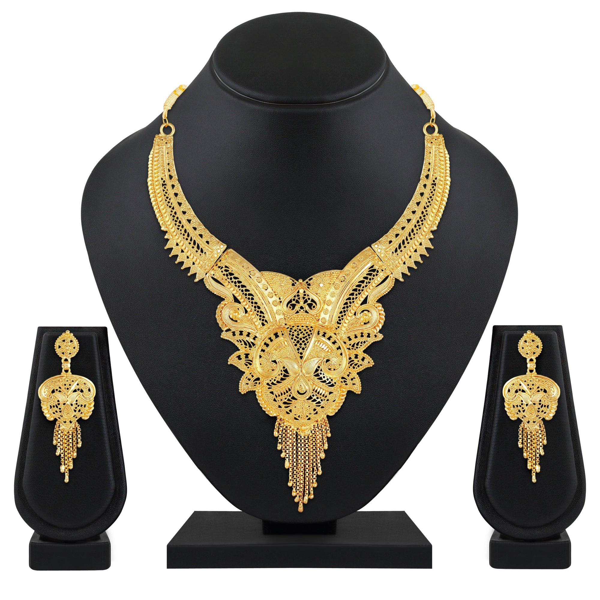 Asmitta Jewellery Alloy Jewel Set (Gold) -NS706