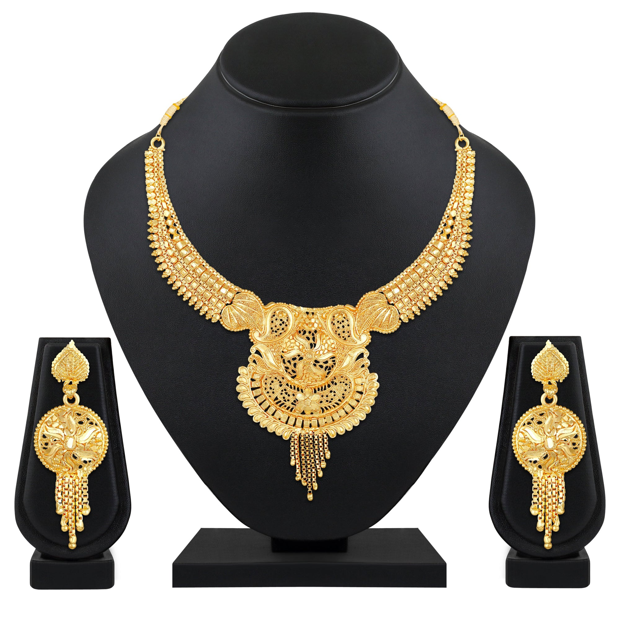 Asmitta Jewellery Alloy Jewel Set (Gold) -NS707