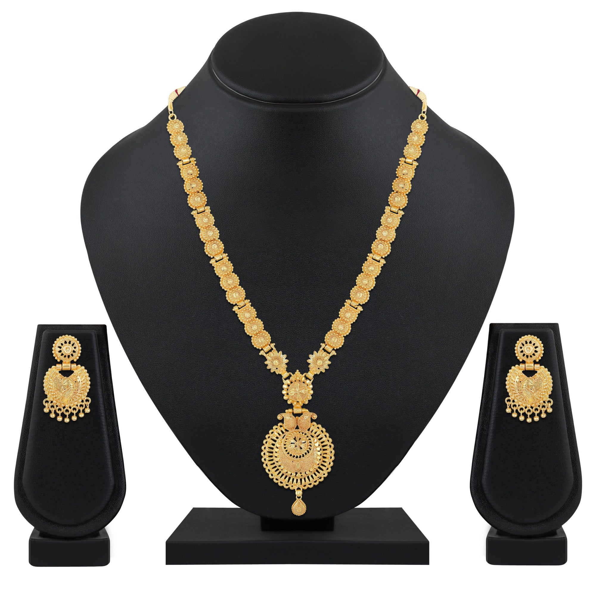 Asmitta Jewellery Alloy Jewel Set (Gold) -NS721
