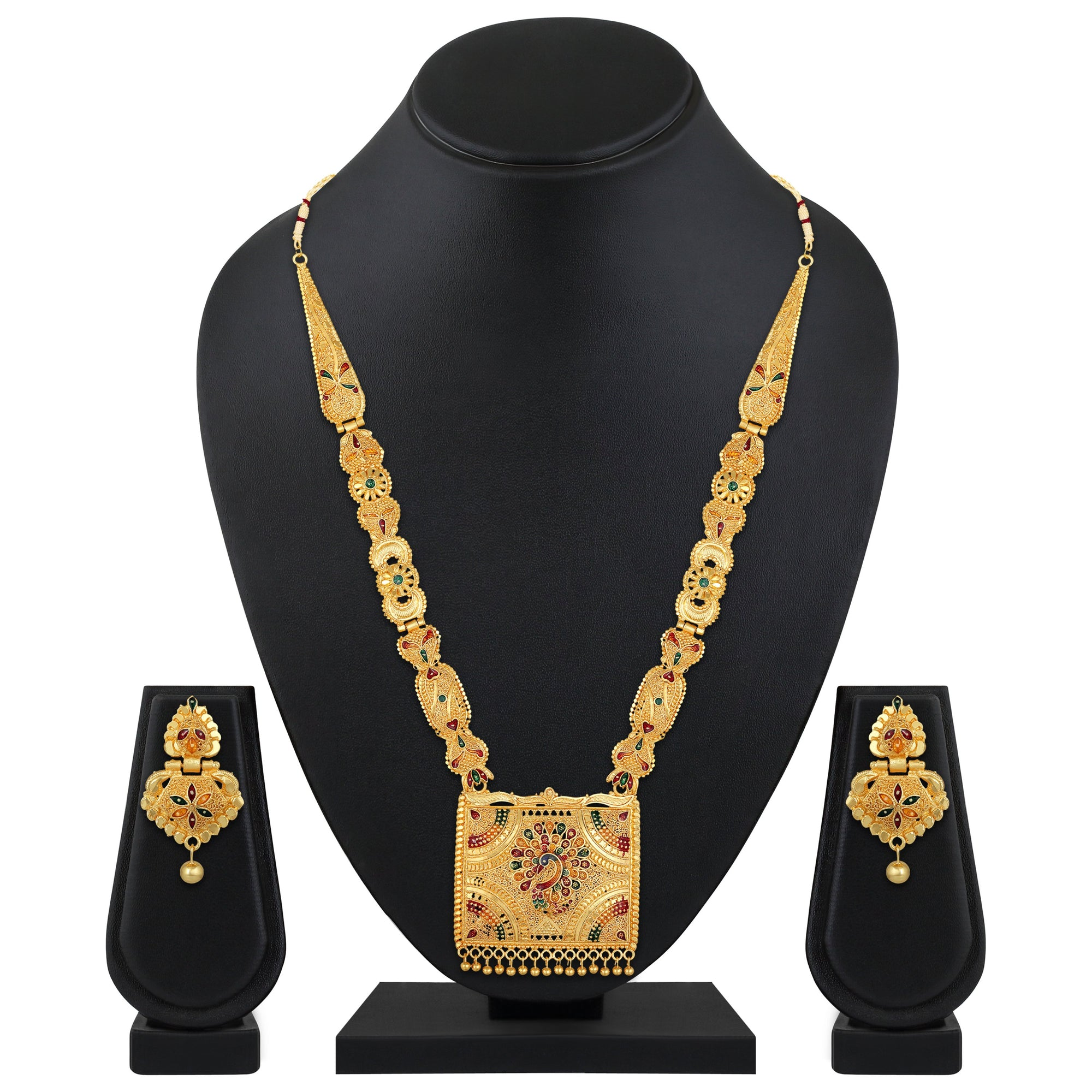 Asmitta Jewellery Alloy Jewel Set (Gold) -NS722