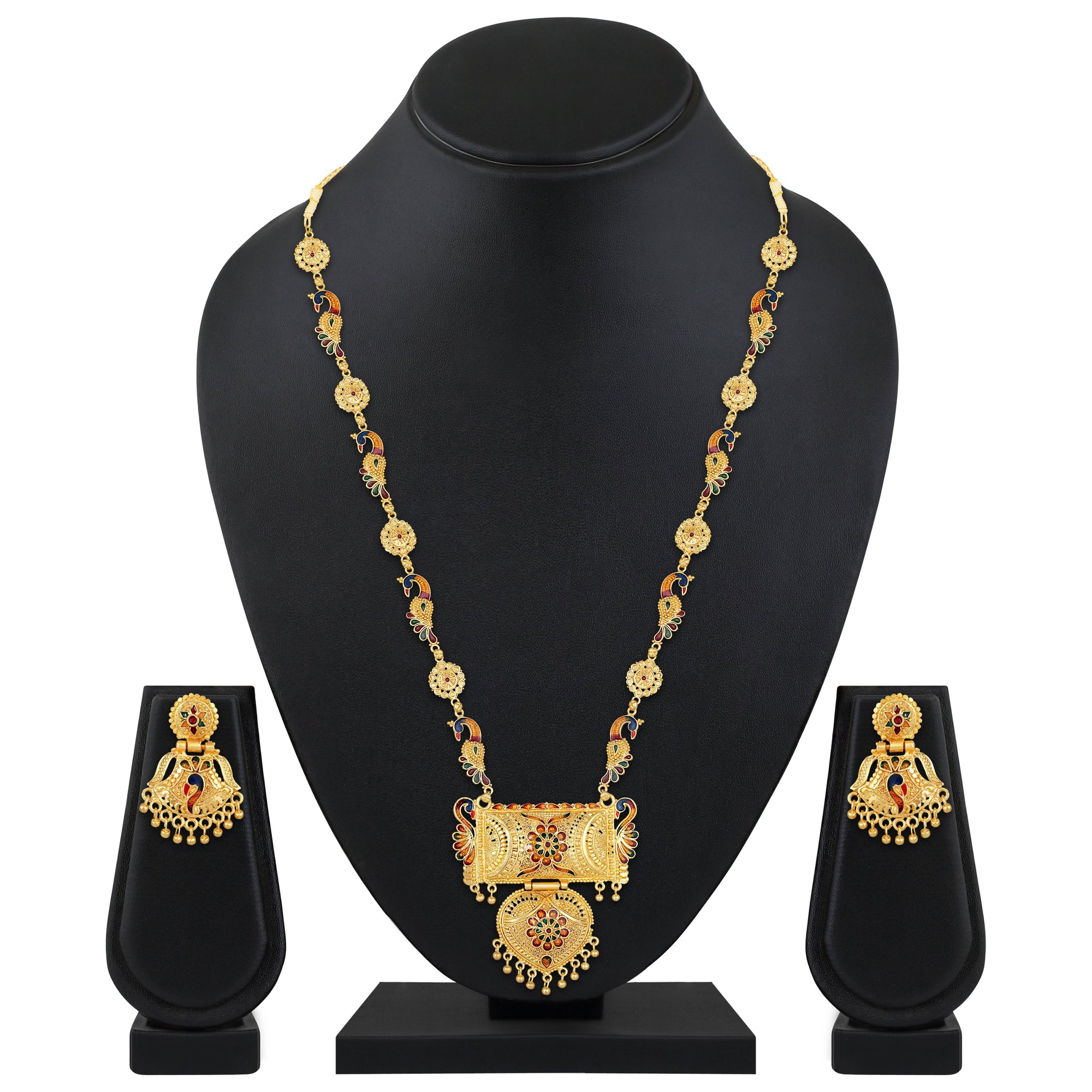 Asmitta Jewellery Alloy Jewel Set (Gold) -NS723