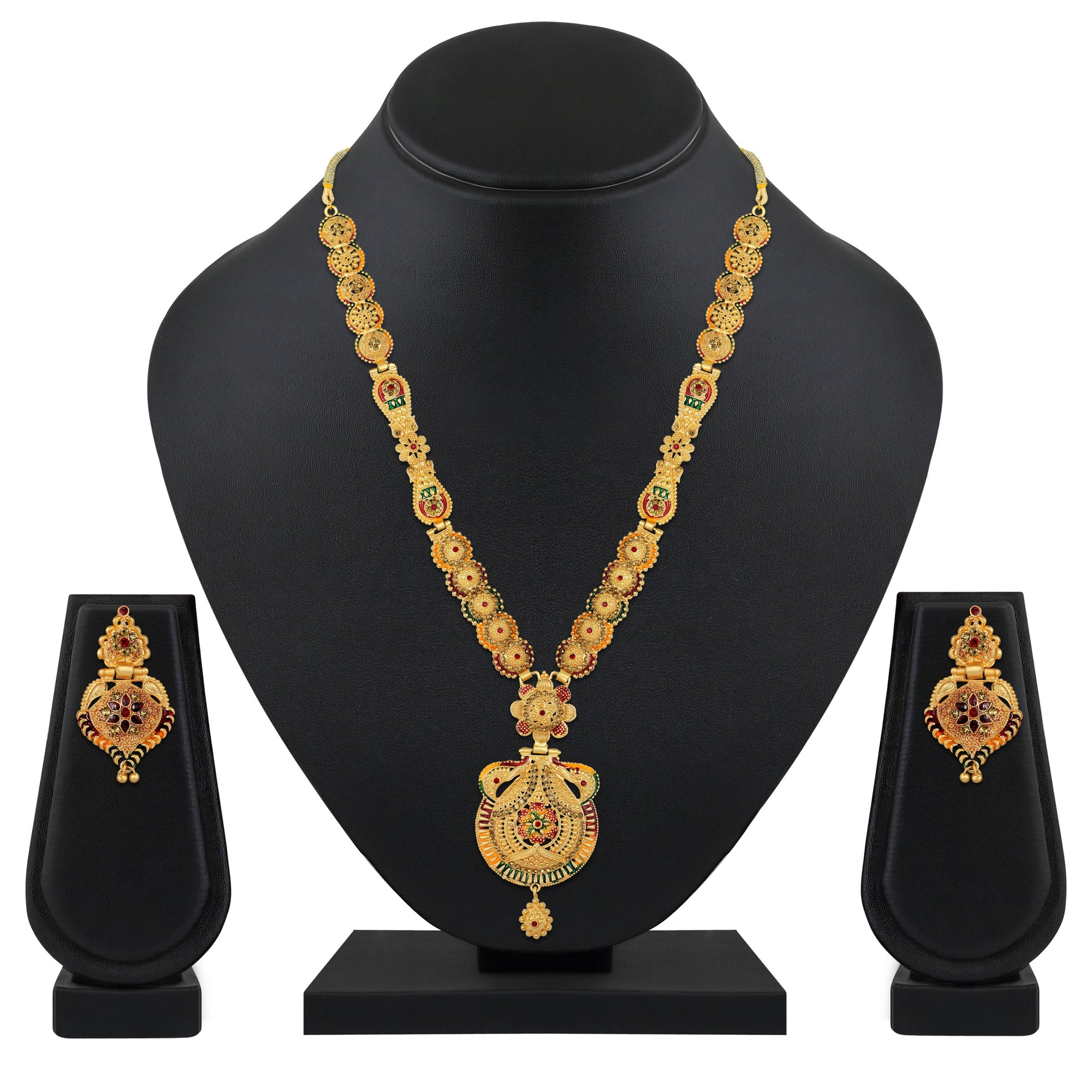 Asmitta Jewellery Alloy Jewel Set (Gold) -NS724