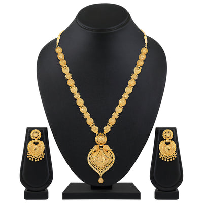 Asmitta Jewellery Alloy Jewel Set (Gold) -NS725